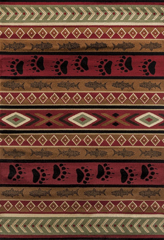 "Woodside Huntsman Trail Brown Rug - 4 Size Options Rugs United Weavers 1'10"" X 3' Accent"