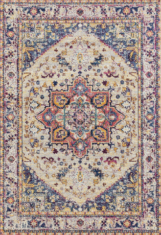 Abigail Zariah Cream Rug  - 7 Size and Shape Options