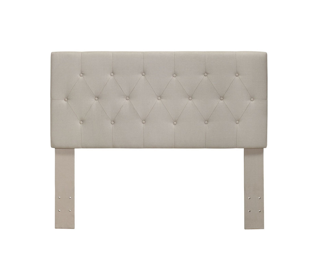 Diane Button-Tufted Full/Queen Headboard Ivory Furniture Enitial Lab