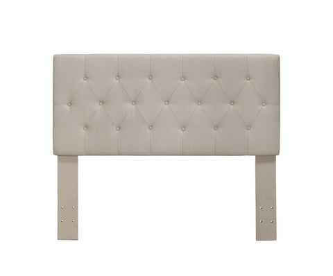Diane Button-Tufted Full/Queen Headboard Ivory