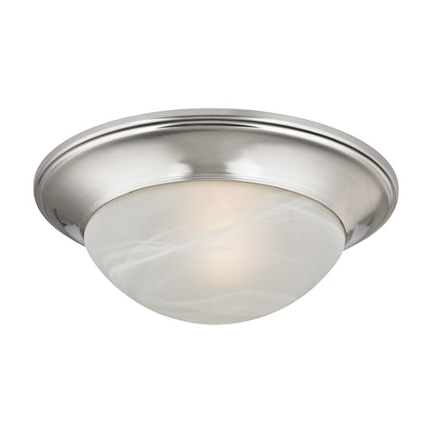 "Brushed Nickel 12""w Contemporary Flush Mount Ceiling Fixture Ceiling Thomas Lighting"