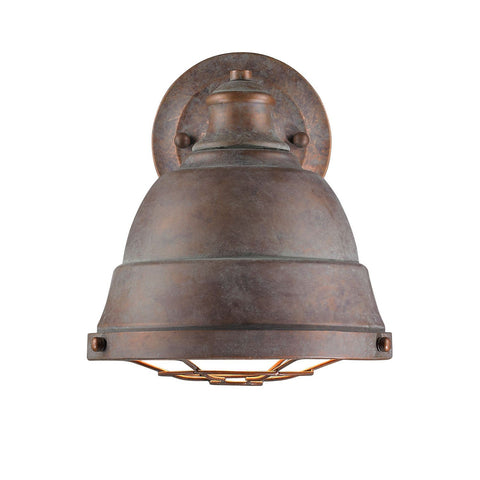 Golden Lighting Bartlett 1 Light Wall Sconce in Copper Patina
