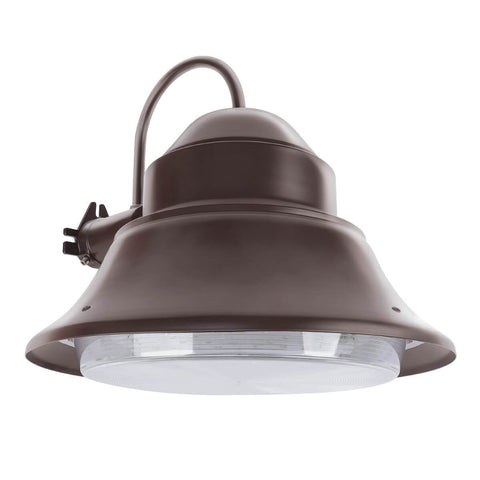 "Feit Electric 13"" LED Wall/Post, Security Area Light, Dusk to Dawn, Bronze, 5000K, Energy Star"