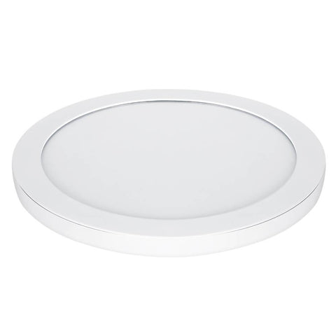 "Feit Electric LED 15"" Ultra Slim Round Flat Panel, Edge-Lit Design, Flush Mount, White Trim"