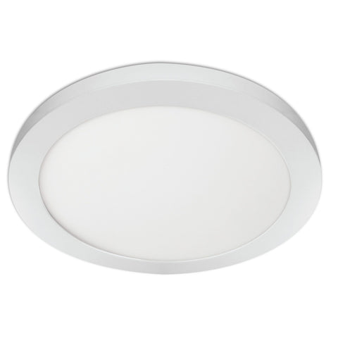 "11"" Round Flat Panel, Edge-Lit, Color Selectable - 3000K/4000K/5000K Ceiling Feit Electric"