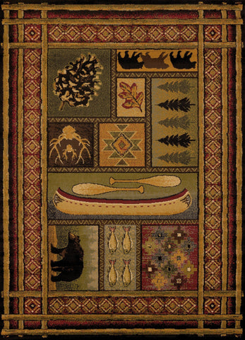 Affinity Lodge Canvas Rug - 4 Sizes Available Rugs United Weavers