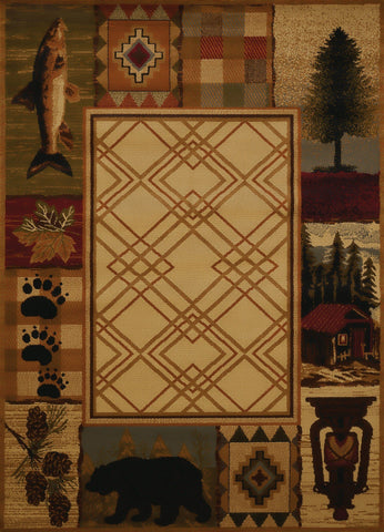 "Affinity Mountain Lake Natural Accent Rug 1'10"" x 3' Rugs United Weavers"