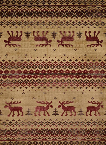 Affinity Embroided Moose Natural Rug - 4 Sizes Available Rugs United Weavers