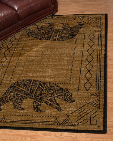 Affinity Bear Cave Gold Rug - 4 Size Options Rugs United Weavers
