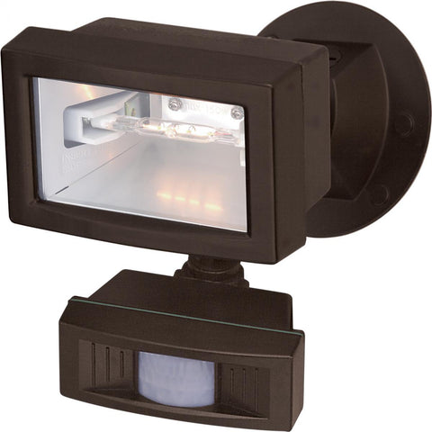 "5"" Flood Light Exterior Mini Halogen w/Motion Sensor Outdoor Nuvo Lighting"