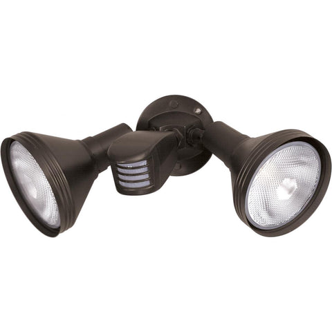 "2 Light 14"" Flood Light Exterior PAR38 with Adjustable Swivel & Motion Sensor Outdoor Nuvo Lighting"
