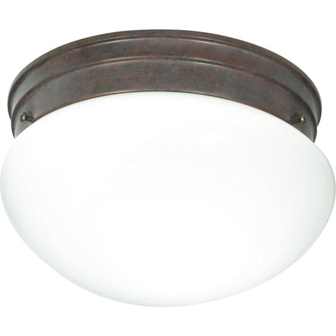 "Nuvo Lighting 2 Light 10"" Flush Mount Medium White Mushroom SF76/602"