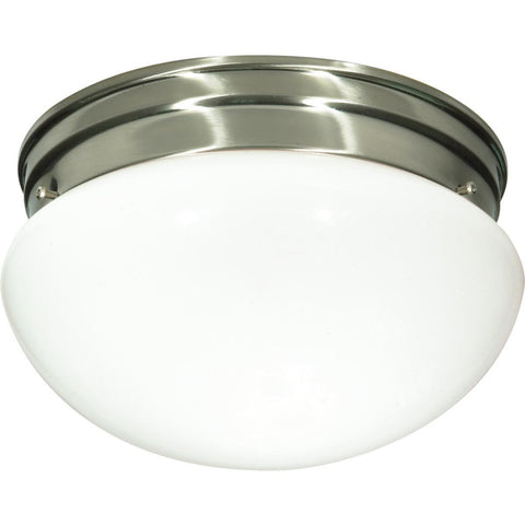 "Nuvo Lighting 2 Light 10"" Flush Mount Medium White Mushroom SF76/603"
