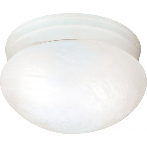 "Nuvo Lighting 2 Light 10"" Flush Mount Medium Alabaster Mushroom SF76/613"