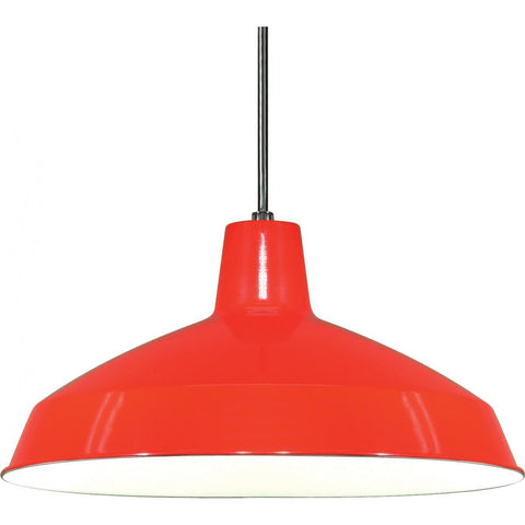 "16"" Pendant Warehouse Shade - Red Ceiling Nuvo Lighting Red"