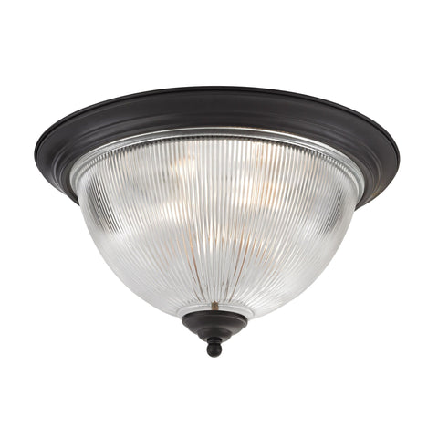 Liberty Park 3-Light Flush Mount in Oil Rubbed Bronze
