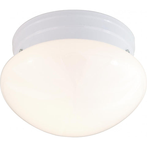 "Nuvo Lighting 2 Light 10"" Flush Mount Medium White Mushroom SF77/062"