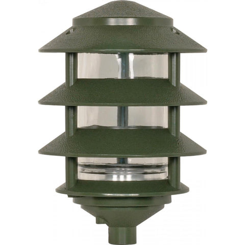 Nuvo Lighting Pagoda Garden Fixture Small Hood 1 light 3 Tier Green Finish SF77/324