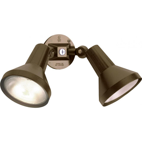 "2 Light 15"" Flood Light Exterior PAR38 with Adjustable Swivel"