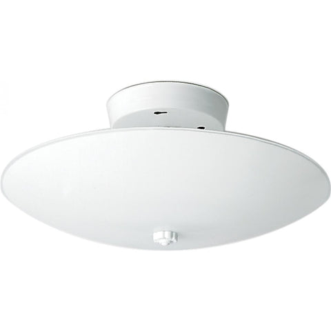 "2 Light 12"" Ceiling Fixture White Round"