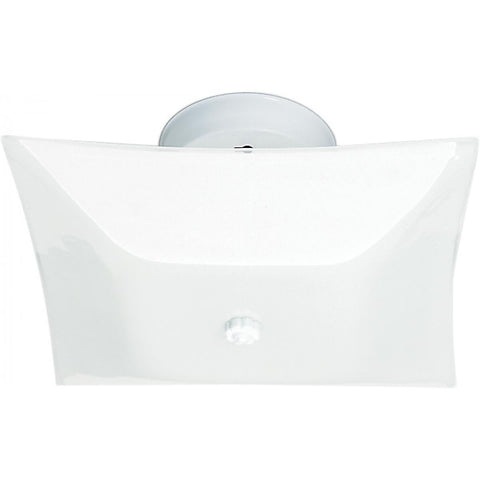 "2 Light 12"" Ceiling Fixture White Square Ceiling Nuvo Lighting"