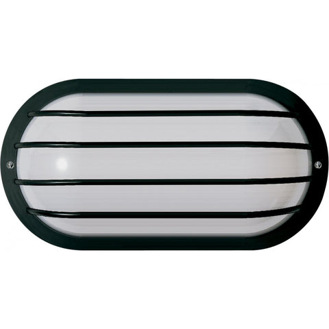 "1 Light 10"" Oval Cage Wall Fixture Polysynthetic Body & Lens"
