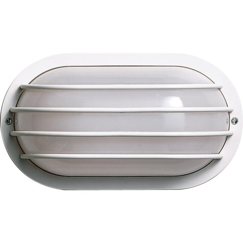 "Nuvo Lighting 1 Light 10"" Oval Cage Wall Fixture Polysynthetic Body & Lens SF77/858"