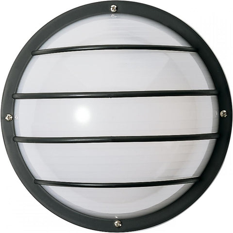 "1 Light 10"" Round Cage Wall Fixture Polysynthetic Body & Lens"