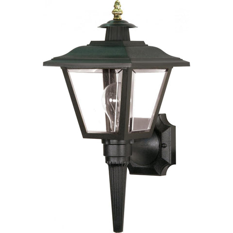 "Nuvo Lighting 1 Light 17"" Wall Lantern Coach Lantern with Brass Trimmed Acrylic Panels SF77/896"