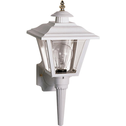 "Nuvo Lighting 1 Light 17"" Wall Lantern Coach Lantern with Brass Trimmed Acrylic Panels SF77/897"