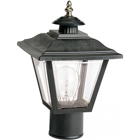 "Nuvo Lighting 1 Light 13"" Post Lantern Coach Lantern with Brass Trimmed Acrylic Panels SF77/898"
