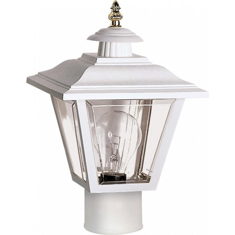 "Nuvo Lighting 1 Light 13"" Post Lantern Coach Lantern with Brass Trimmed Acrylic Panels SF77/899"