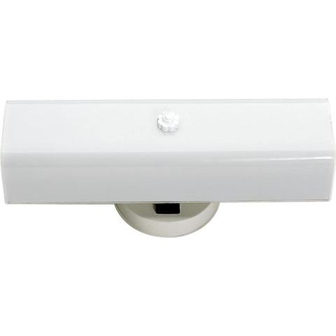 "2 Light 14"" Vanity with White ""U"" Channel Glass with Conv Outlet"