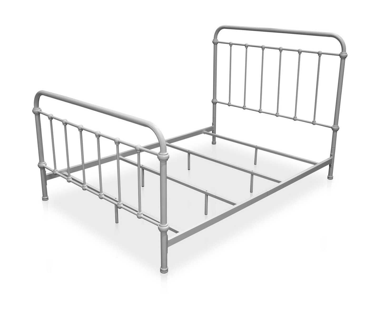 Norean Metal Queen Bed Vintage White Furniture Enitial Lab