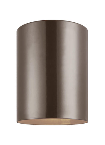 Small LED Ceiling Flush Mount - Bronze