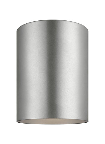 Small LED Ceiling Flush Mount - Painted Brushed Nickel