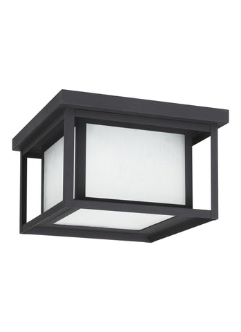 Hunnington LED Outdoor Ceiling Flush Mount - Black