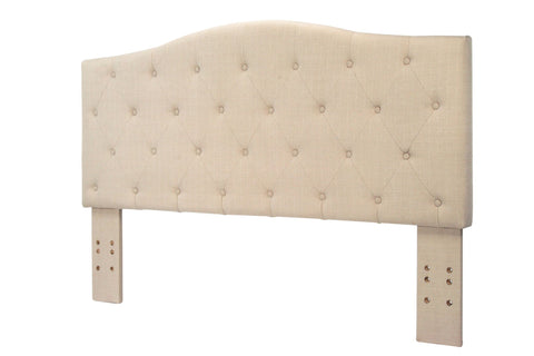 Tara Flax Fabric Full/Queen Headboard Ivory