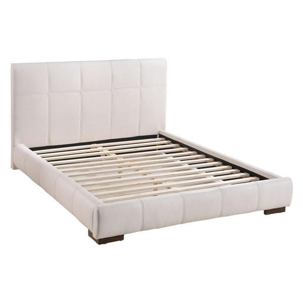 Amelie Bed Queen White Furniture Zuo