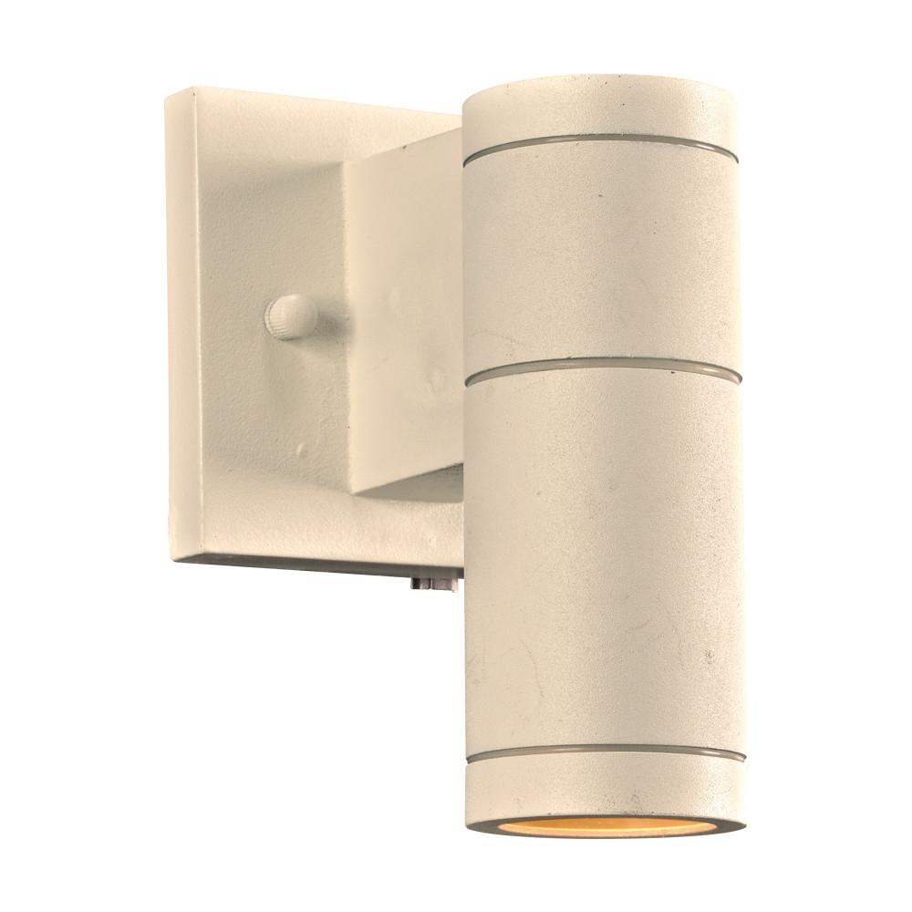 "Troll-I 7.5""h Downlight Outdoor Wall Light - White Outdoor PLC Lighting"