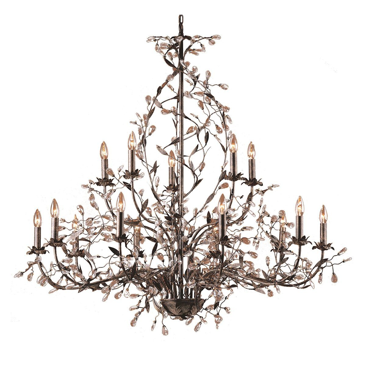 Circeo 15 Light Chandelier In Deep Rust Ceiling Elk Lighting