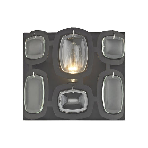 Elk Lighting Monserrat 1 Light Vanity In Oil Rubbed Bronze With Clear Glass