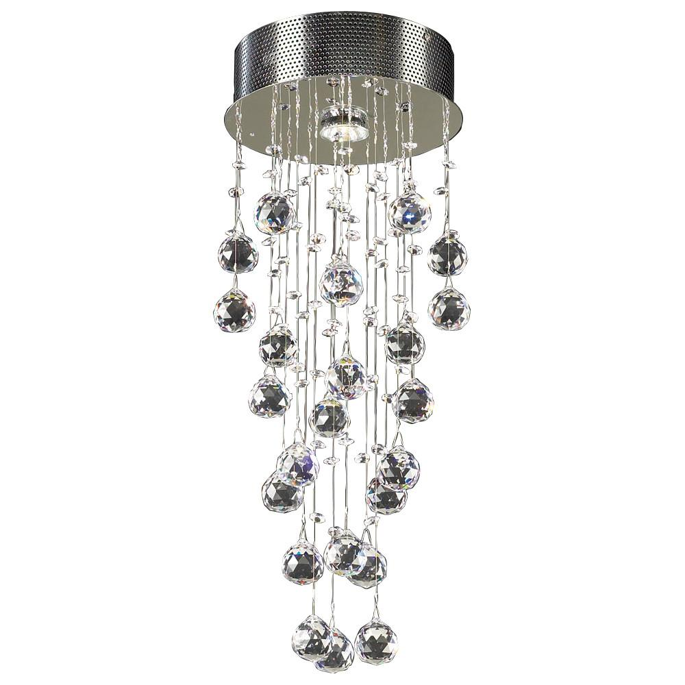 "Beverly 10""w Flush Mount Crystal Chandelier Ceiling PLC Lighting"