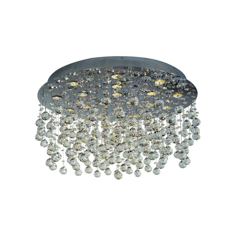 "Beverly 32""w Flush Mount Crystal Ceiling Fixture"