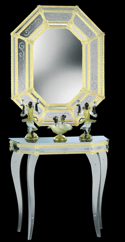 Arte di Murano Mirrored Console Table 81x35x83 CM