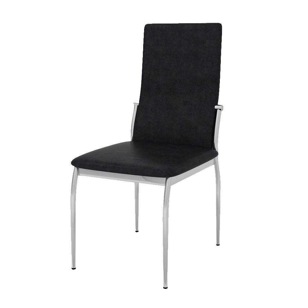 Freda Modern Leatherette Dining Chair Black (Set of 2) Furniture Enitial Lab