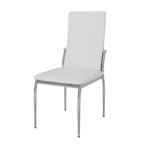 Freda Modern Leatherette Dining Chair White (Set of 2)