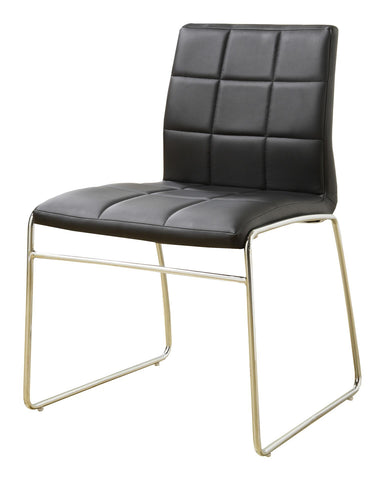 Kellen Modern Tufted Leatherette Dining Chair Black (Set of 2)