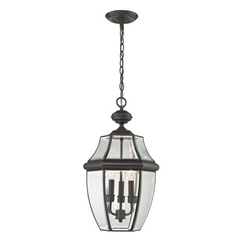 Ashford 3-Light Hanging Lantern in Oil Rubbed Bronze - Large Outdoor Lighting Thomas Lighting
