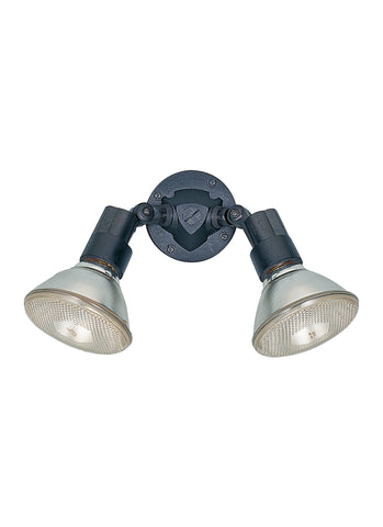 Two Light Adjustable Swivel Flood Light - Black Outdoor Sea Gull Lighting